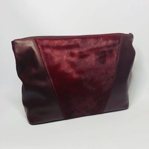 Vince Mod V Leather and calf hair pouchette